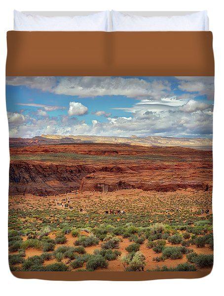 Horseshoe Bend  - Arizona Duvet Cover by Jennifer Rondinelli Reilly - Fine Art Photography