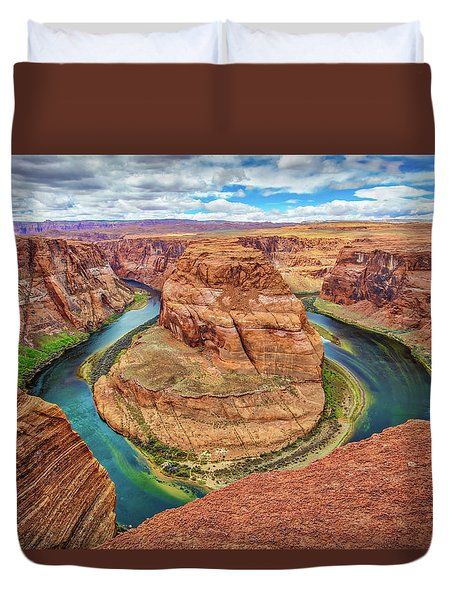 Duvet Cover featuring the photograph Horseshoe Bend - Colorado River - Arizona by Jennifer Rondinelli Reilly - Fine Art Photography