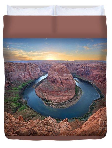 Horseshoe Bend Colorado River Arizona Duvet Cover by Martin Konopacki