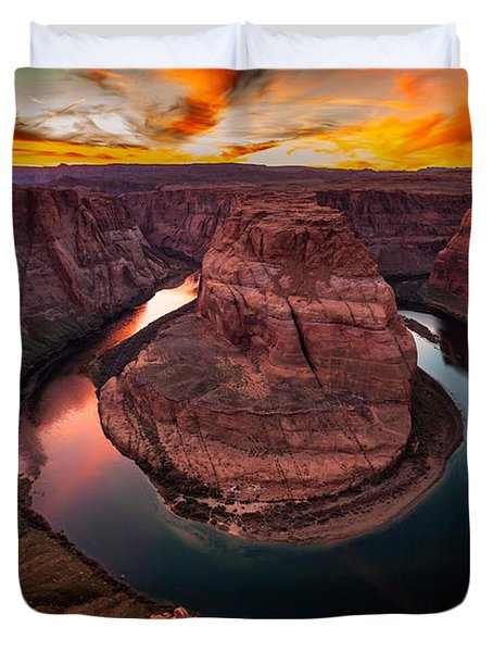 Horseshoe Bend, Colorado River, Page, Arizona  Duvet Cover