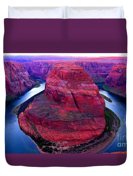 Horseshoe Bend Duvet Cover by Jason Abando