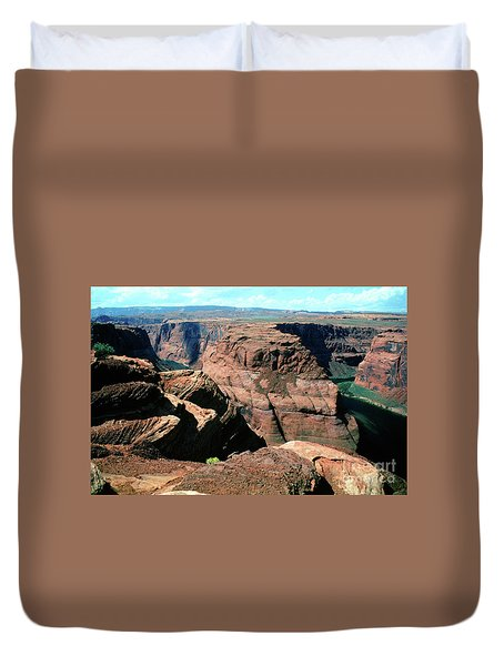 Horseshoe Bend Of The Colorado River Duvet Cover