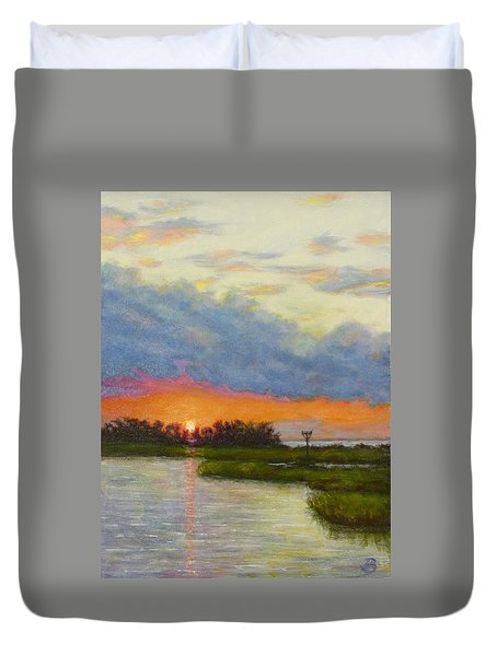 Horseshoe Cove Sunset Duvet Cover