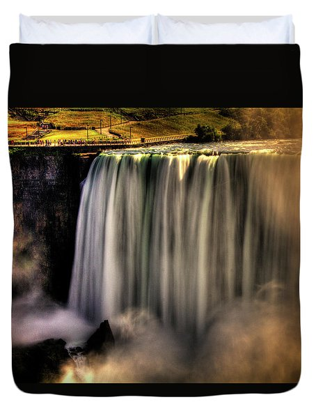 Horseshoe Falls Early Autumn No 03 Duvet Cover