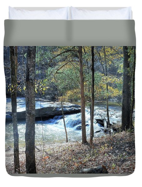 Horseshoe Falls Duvet Cover by Kay Gilley