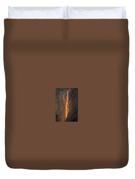 Horsetail Fall 1 Yosemite Duvet Cover