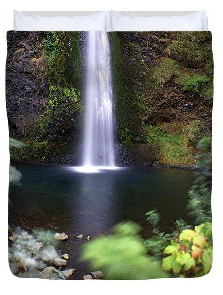 Horsetail Falls Basin Duvet Cover by Marty Koch