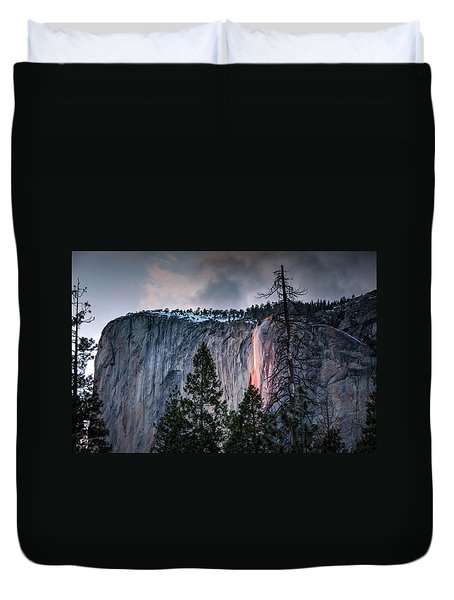 Horsetail Waterfall Glow 2017 Duvet Cover