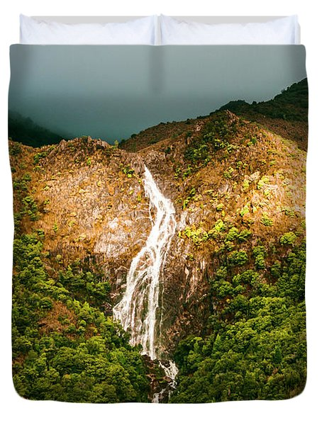 Horsetail Waterfalls Tasmania  Duvet Cover