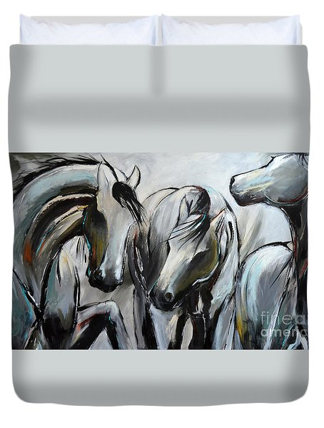 Horsin' Around Duvet Cover