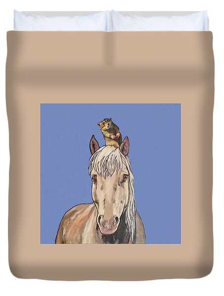 Hortense The Horse Duvet Cover