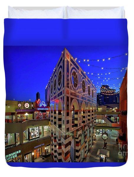Horton Plaza Shopping Center Duvet Cover