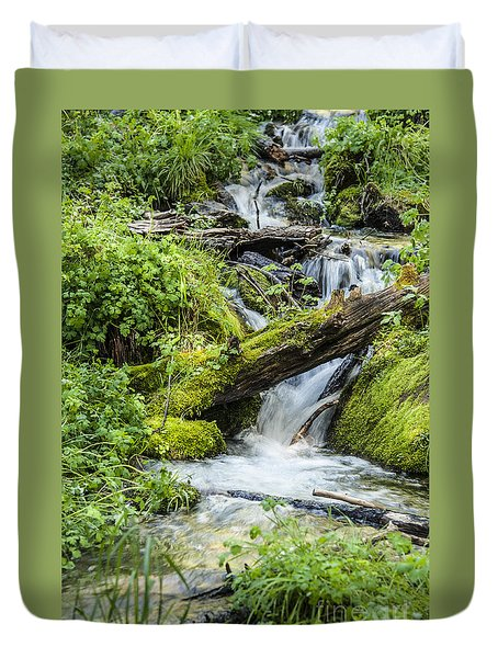 Duvet Cover featuring the photograph Horton Springs by Anthony Citro