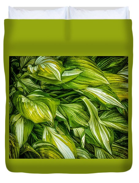 Hosta Chaos Duvet Cover