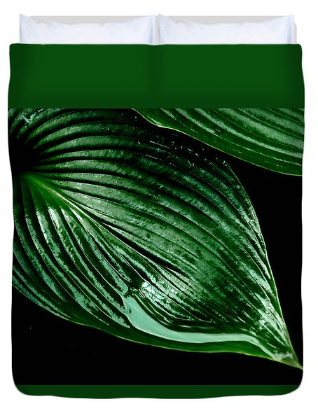 Hostas Leaves Duvet Cover