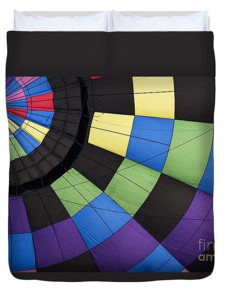 Hot Air Balloon Abstract Duvet Cover