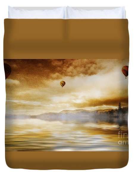 Hot Air Balloon Escape Duvet Cover