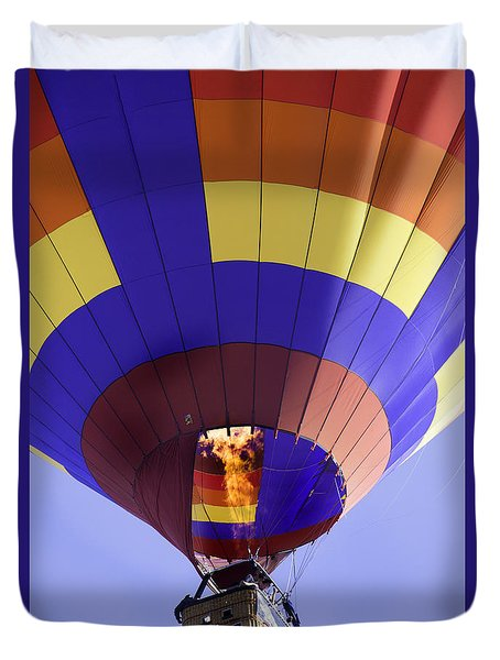 Hot Air Balloon Fire In The Pit Duvet Cover