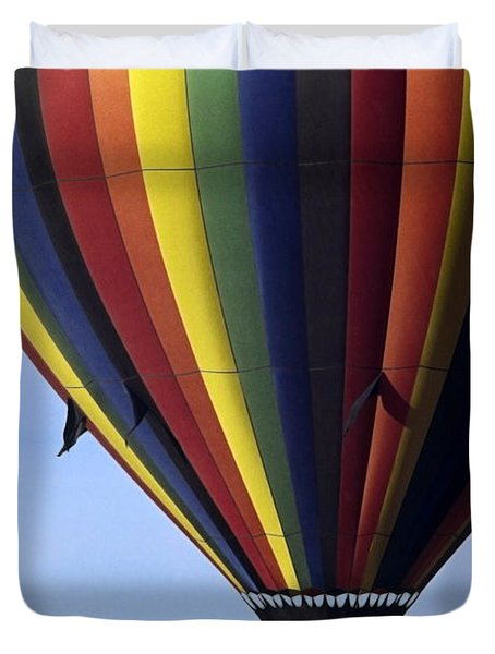 Hot Air Balloon  Duvet Cover by Sally Weigand