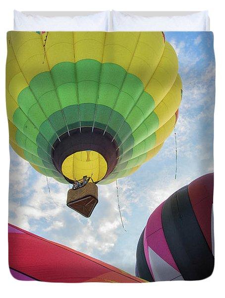 Hot Air Balloon Takeoff Duvet Cover