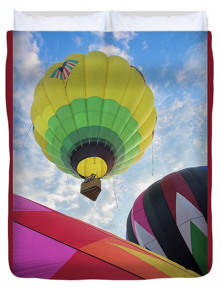 Hot Air Balloon Takeoff Duvet Cover