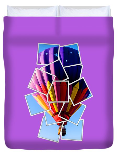 Hot Air Ballooning Tee Duvet Cover