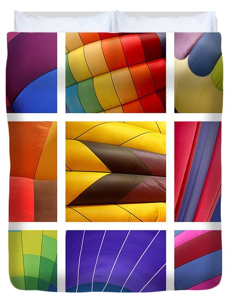 Hot Air Balloons Duvet Cover by Art Block Collections