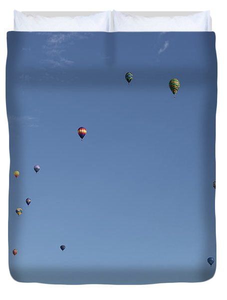 Hot Air Rising  Duvet Cover