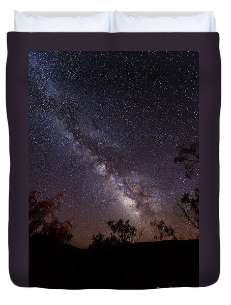 Hot August Night Under The Milky Way Duvet Cover