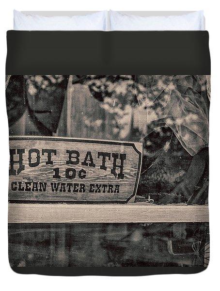 Hot Bath Duvet Cover