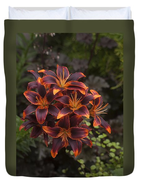 Hot Bouquet Duvet Cover