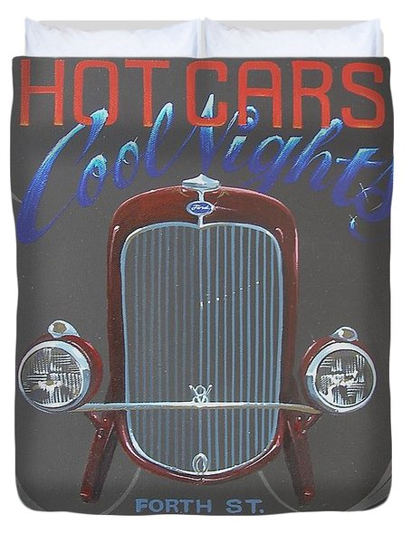 Hot Cars Cool Nights Duvet Cover