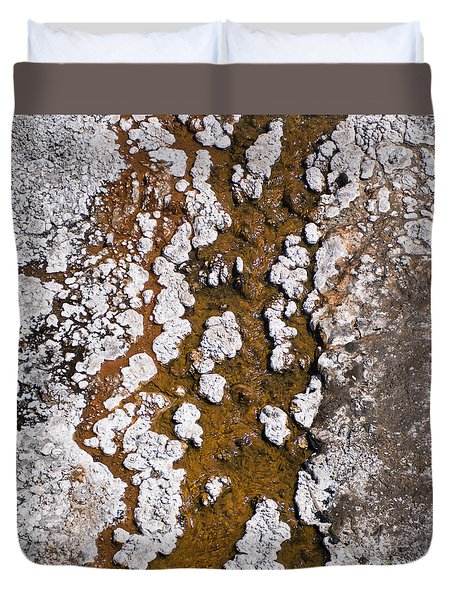 Hot Cascades Abstract Duvet Cover