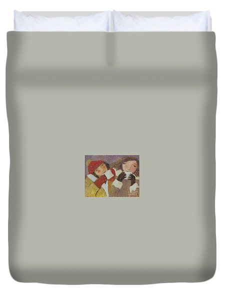 Hot Chocolate Duvet Cover by Glenn Quist
