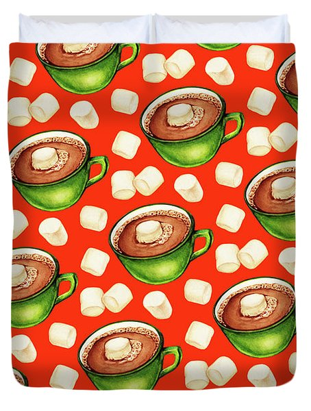 Hot Cocoa Pattern Duvet Cover