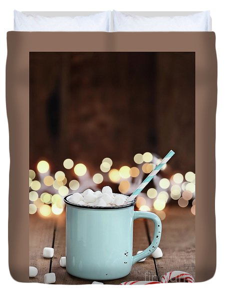 Hot Cocoa With Mini Marshmallows Duvet Cover