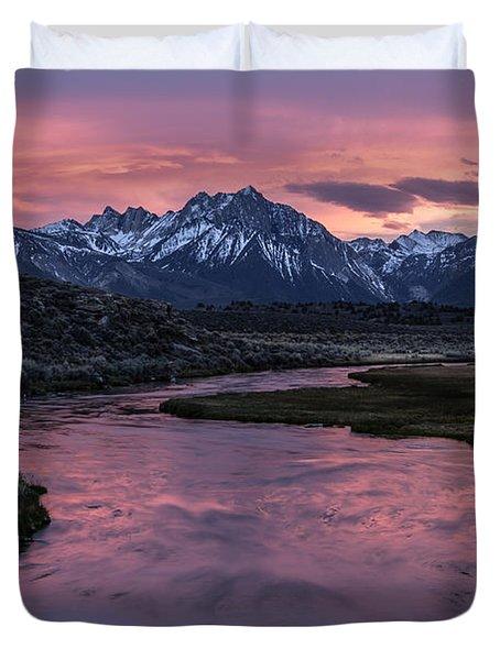 Hot Creek Sunset Duvet Cover
