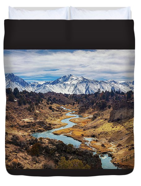 Hot Creek Duvet Cover