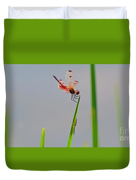 Duvet Cover featuring the photograph Hot Day by Donna Brown
