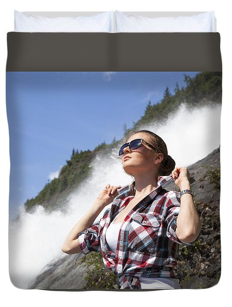 Hot Day In Alaska Duvet Cover