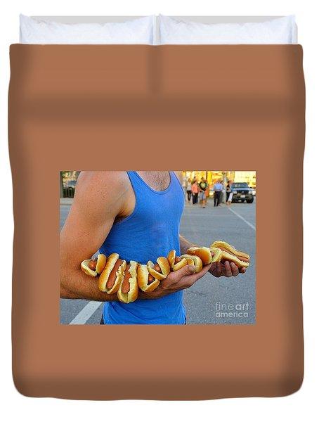 Hot Dog Man Duvet Cover