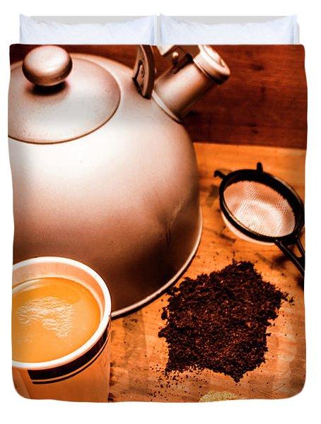 Hot Drink Details. Tea Print Duvet Cover