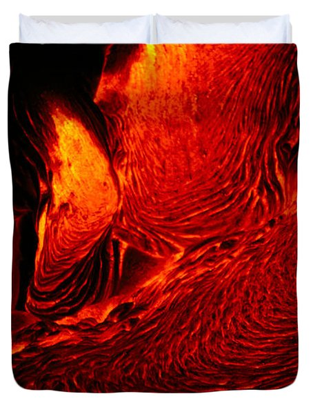 Hot Flowing Lava Duvet Cover by Bob Abraham - Printscapes