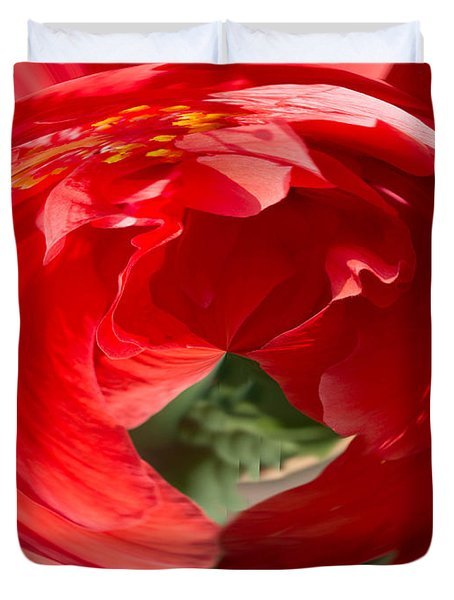 Duvet Cover featuring the photograph Hot Hibiscus by Cathy Donohoue