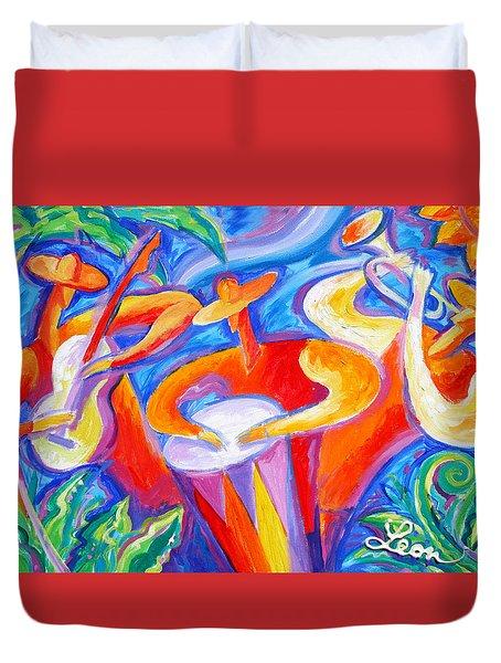 Hot Latin Jazz Duvet Cover
