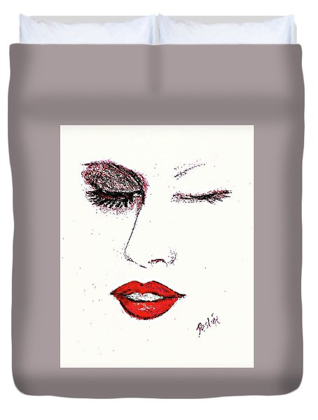 Hot Lips Duvet Cover