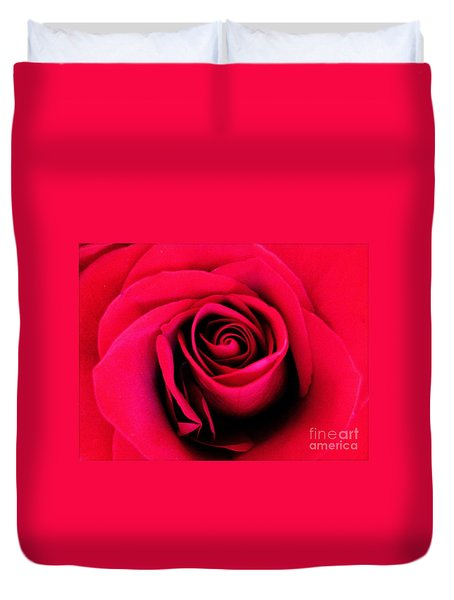 Hot Lips Duvet Cover by Molly McPherson