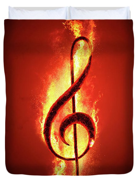 Hot Music Duvet Cover