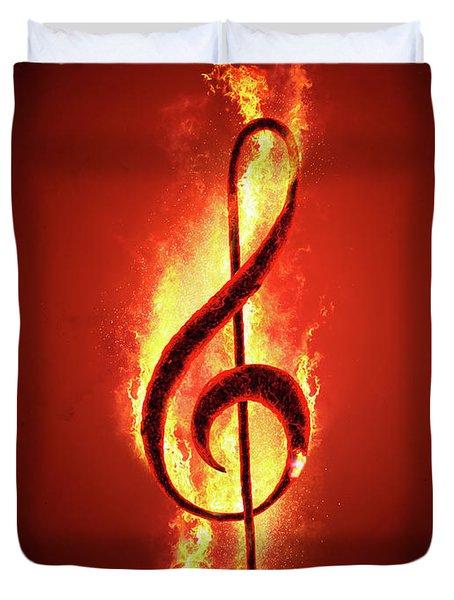 Hot Music Duvet Cover