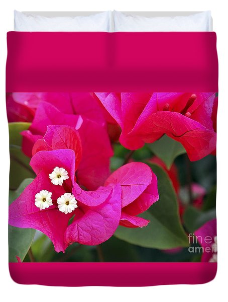 Hot Pink Bougainvillea Duvet Cover